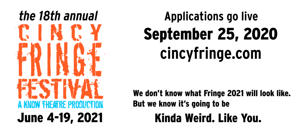 Fringe Applications available Septermber 25, 2020